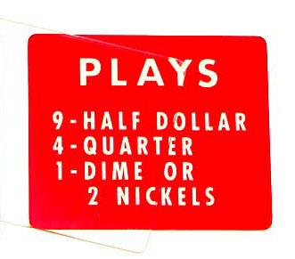 """Instruktionsschild """"PLAYS"""" für 2600"""