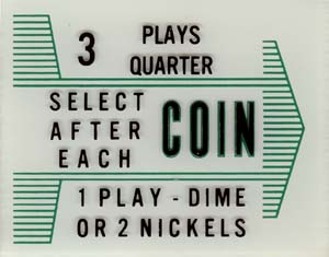 "Instruction glass ""Coin"""