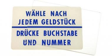 "instruction plastic ""Wähle"" W2300"