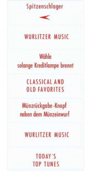 Instruction inserts, red, German