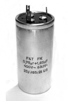 Motor-Kondensator 0,75 + 1,65 µF
