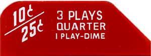 """Instruction glass """"3 Plays"""", 3W1"""
