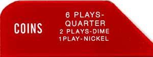 """Instruction glass """"6 Plays"""", 3W1"""