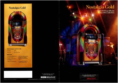 Broschüre NSM Nostalgia Gold