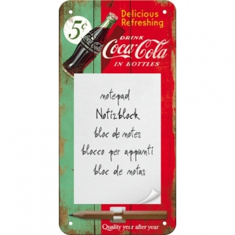 "Notizblock-Schild ""Coca-Cola"""