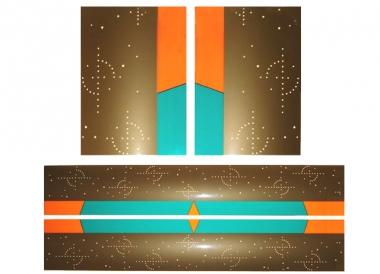 Farbfolien für Glaspilaster, gold