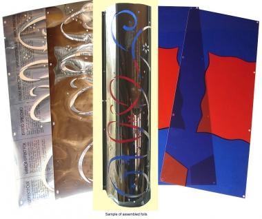 Pilaster colour sheets 1700, pair