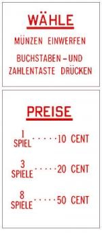 Preis- u. Instruktionsgläser, D - EUR
