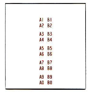 Programmglas A1-B0