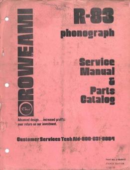Service Manual Rowe/AMI R-83