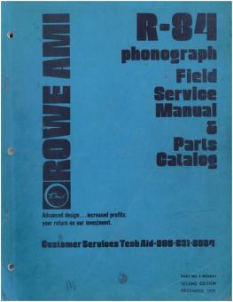 Field Service Manual Rowe/AMI R-84