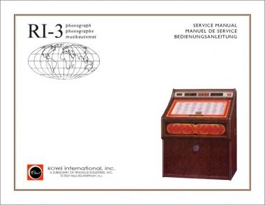Service Manual ROWE/AMI RI-3, trilangual