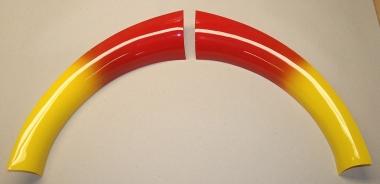 Plastiks, rot/gelb