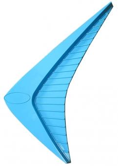 """Grill ornament """"Boomerang"""", plain"""