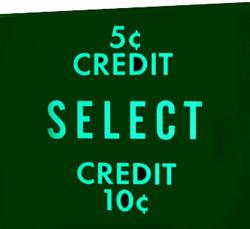 "Münzglas ""5 ¢ Credit ..."""
