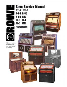 Shop Service Manual Rowe R84 - RI5