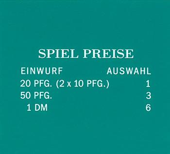 "Pricing card ""SPIEL PREISE"", DE, turquoise"