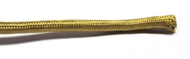 Stoffummanteltes Kabel, gold, 3-adrig