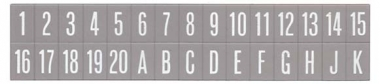 Buchstaben- und Zahleneinlagen