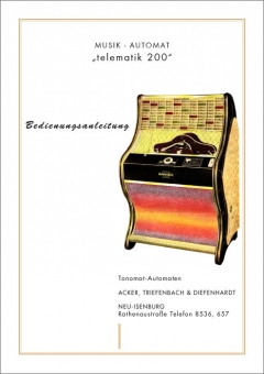 Service Manual Telematic 200 and Music Maker 20