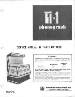 Service Manual Rowe/AMI TI-1