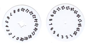 Selection dial and credit wheel dial