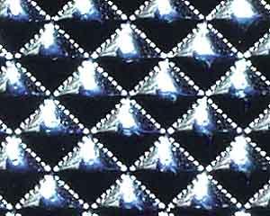 Deko-Folie Waffelmuster, silber, 5 x 5 mm
