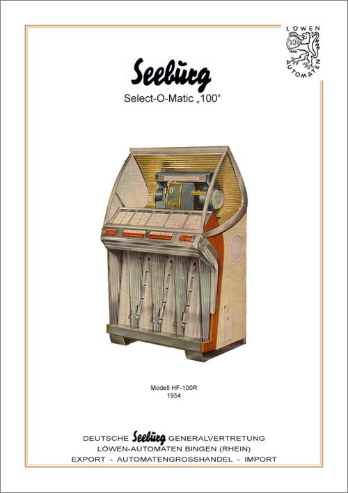 Handbuch Seeburg HF100R, deutsch
