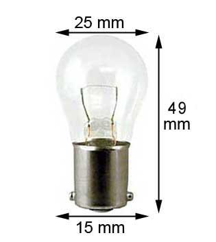 Ba15s Lampe #1129