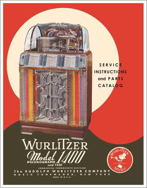 Service Manual Wurlitzer 1400, 1450
