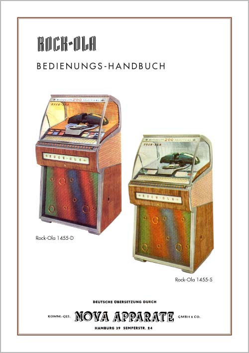 Bedienungs-Handbuch 1455D, 1455S - German