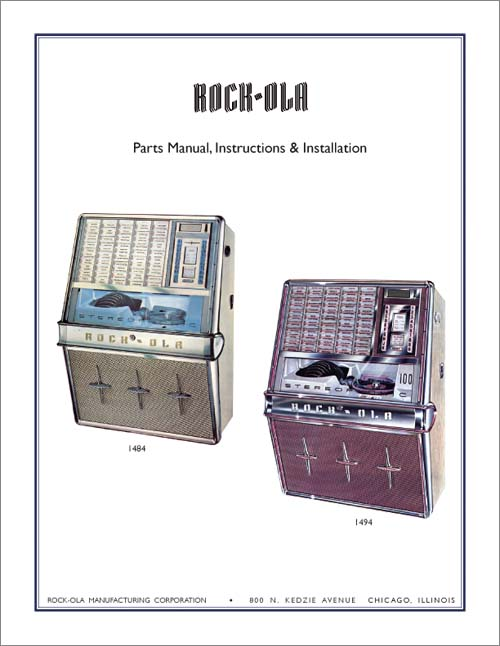 Service Manual Rock-Ola 1484 und 1494
