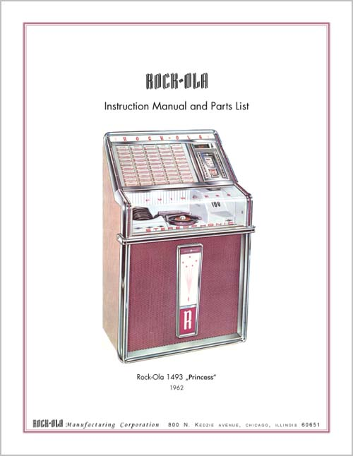 Service Manual Rock-Ola 1493, englisch
