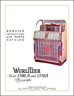 Service Manual Wurlitzer 1500A, 1550A