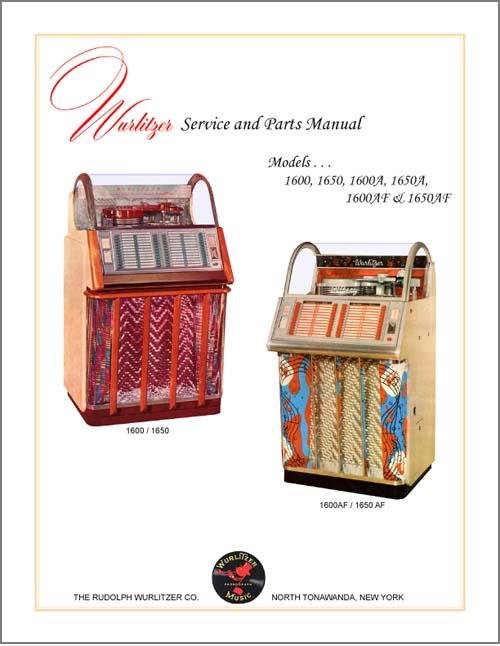 Service Manual Wurlitzer 1600 series