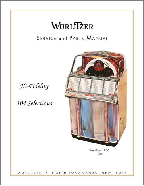 Service Manual Wurlitzer 1800
