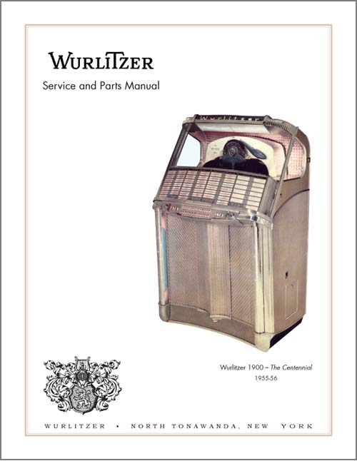 Service Manual Wurlitzer 1900
