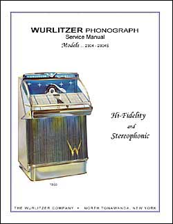 Service Manual Wurlitzer 2304