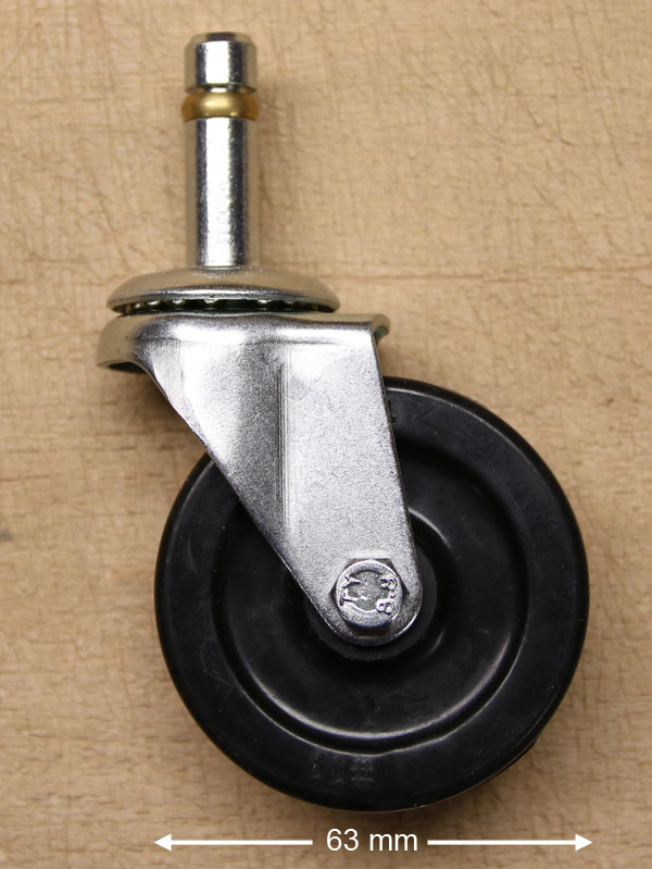 """2,5"""" caster with polyamide wheel"""