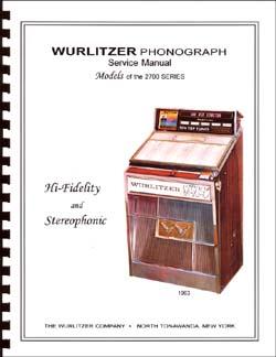 Service Manual Wurlitzer 2700