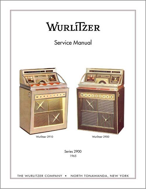 Service Manual Wurlitzer 2900