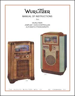 Service Manual Wurlitzer 312. 412, 35