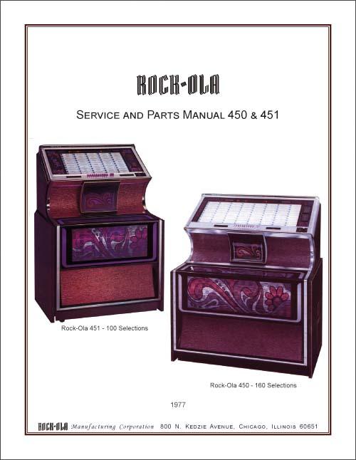 Service Manual Rock-Ola 450 und 451