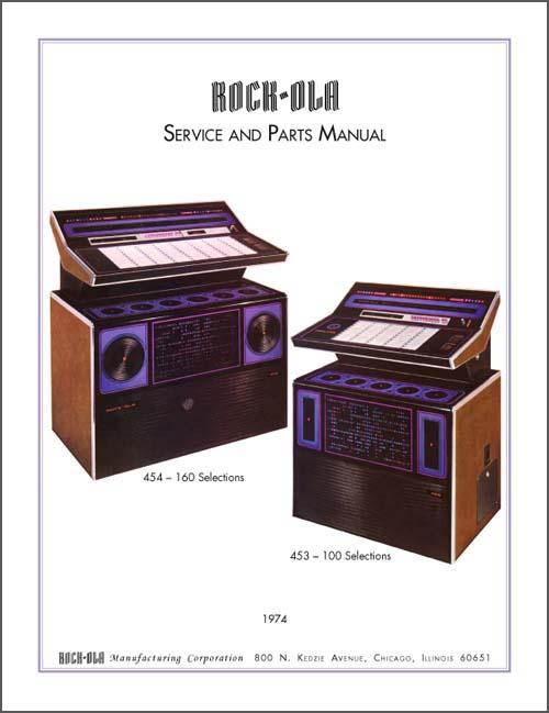 Service Manual Rock-Ola 453 und 454