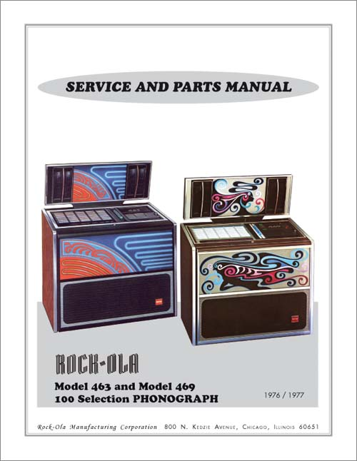 Service Manual Rock-Ola 463 and 469