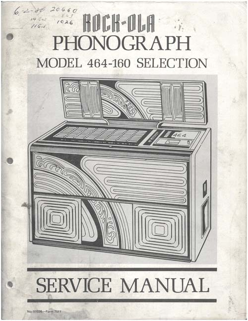 Service Manual Rock-Ola 464