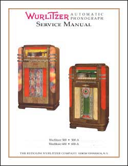 Service Manual Wurlitzer 500, 600
