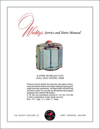 Service Manual Wurlitzer 5206