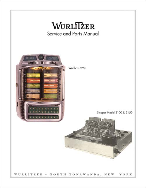 Service Manual Wurlitzer 5250/2100