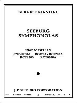 Service Manual Seeburg 8200
